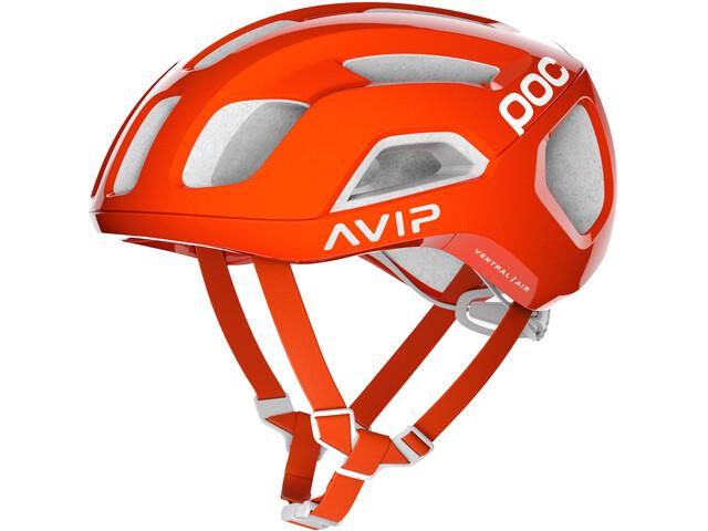 POC Ventral Air Spin Kask rowerowy pomarańczowy/biały